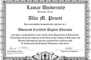 Advanced Certified Digital Educator